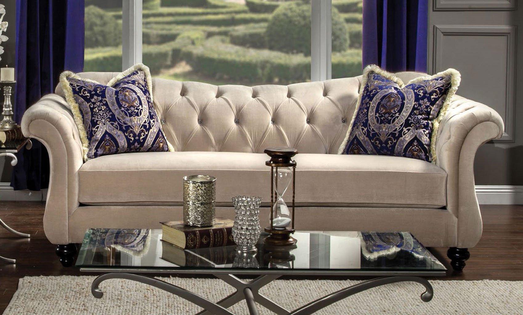 Antoinette II Sofa (Light Mocha)