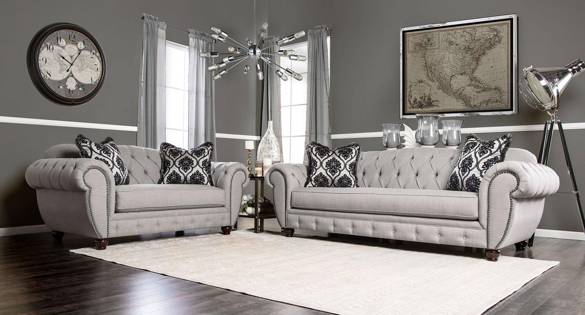 viviana living room set furniture of america 1 reviews