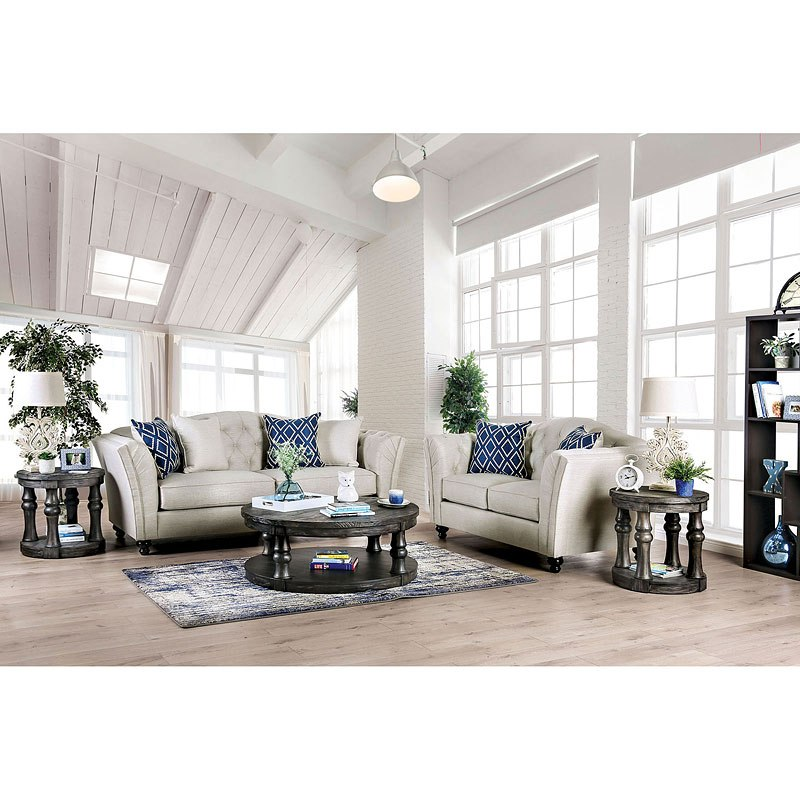 Ivory Living Room Furniture: Porth Living Room Set (Ivory) Furniture Of America