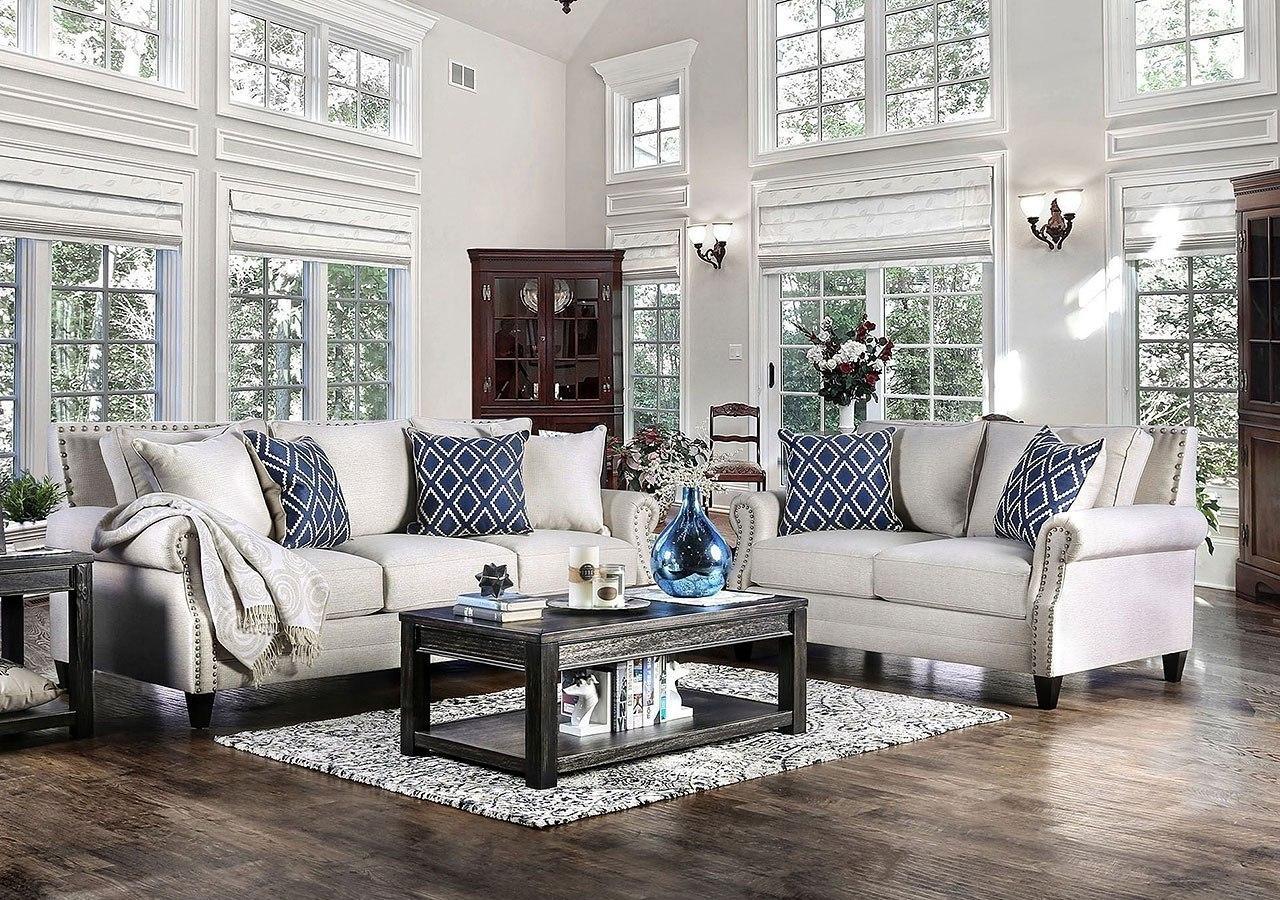 Giovanni Living Room Set Beige Furniture Of America 2