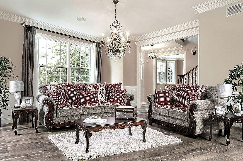 Whitland Living Room Set (Burgundy)