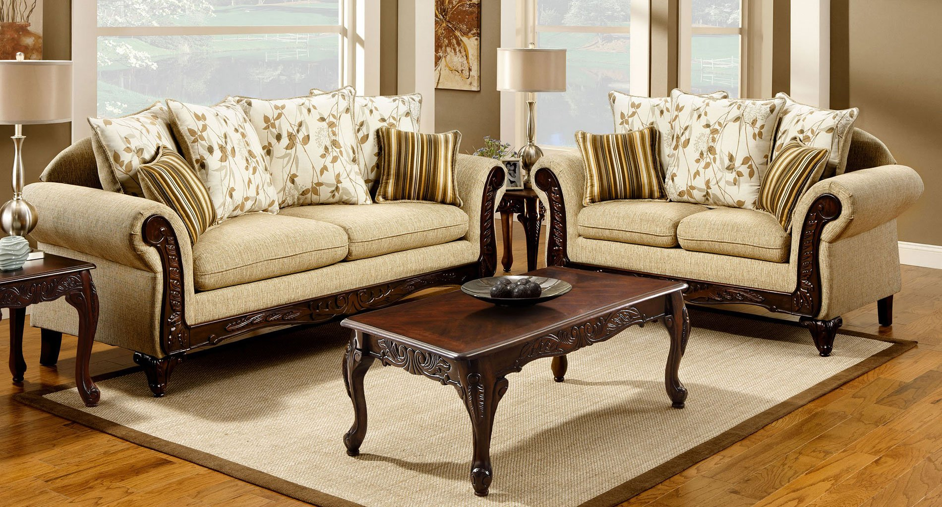 Doncaster Living Room Set (Tan)