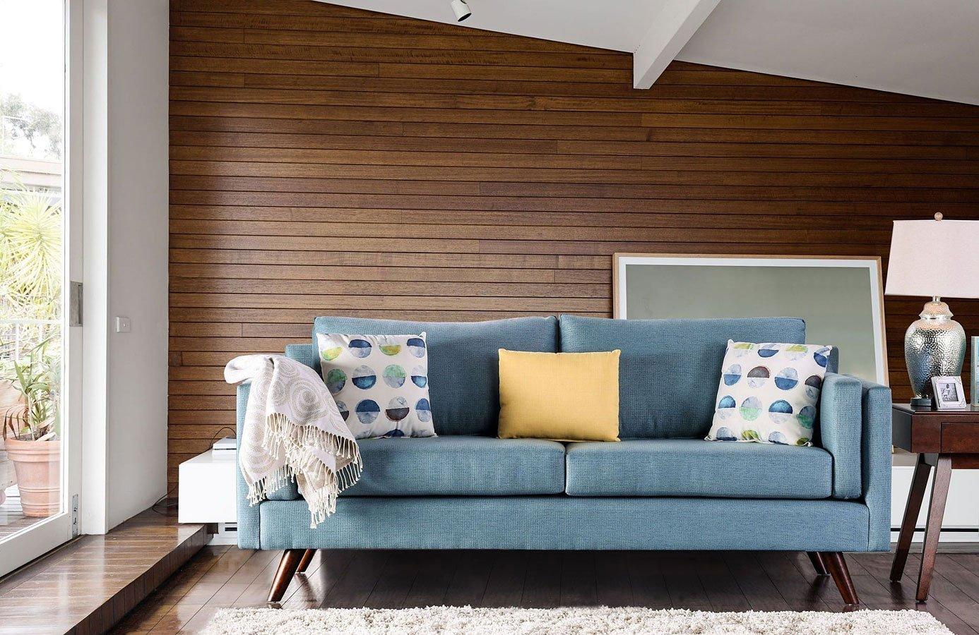 Charmant Genna Sky Blue Sofa
