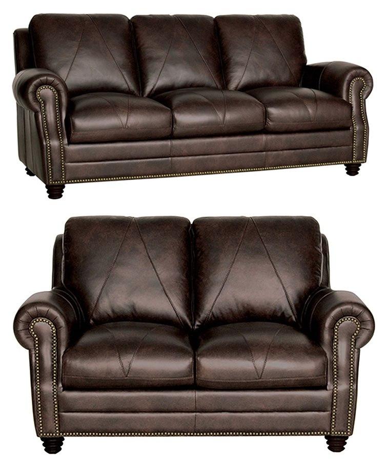 Italian Living Room Furniture Sets: Solomon Italian Leather Living Room Set Luke Leather