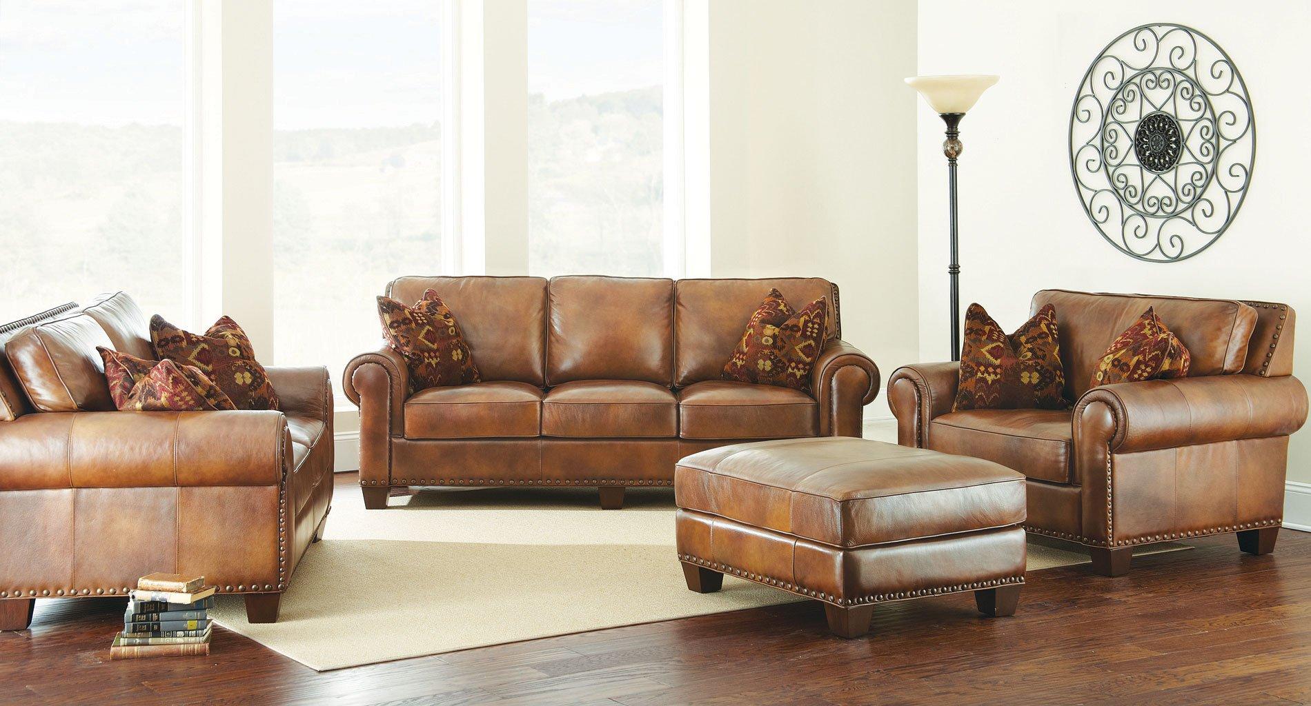 Silverado Leather Living Room Set Steve Silver Furniture 1 Reviews