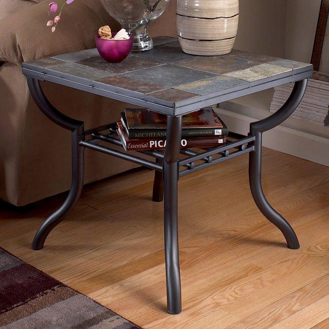 Antigo Square End Table