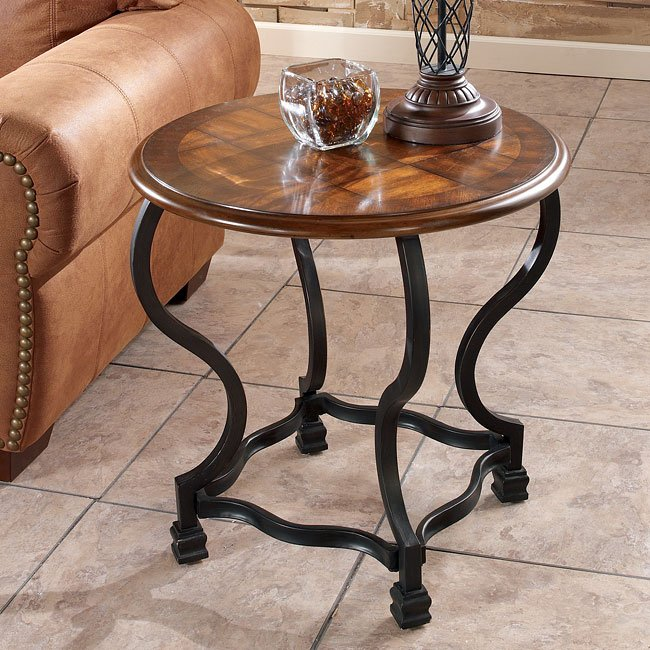 Wycliffe Round End Table