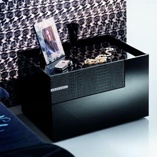 Diamond Platform Bedroom Set Black Rossetto Usa