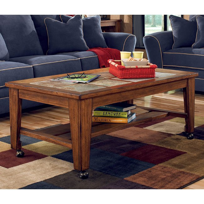 Toscana Rectangular Cocktail Table w/ Casters