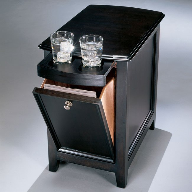 Carlyle Chairside End Table Signature Design Furniture Cart