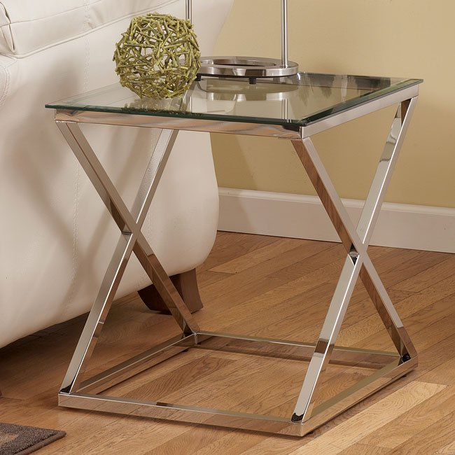 Vinay Rectangular End Table