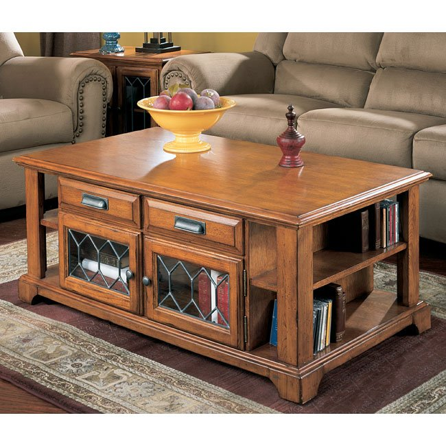 Drake Estates LiftTop Cocktail Table Signature Design Furniture Cart - Drake coffee table