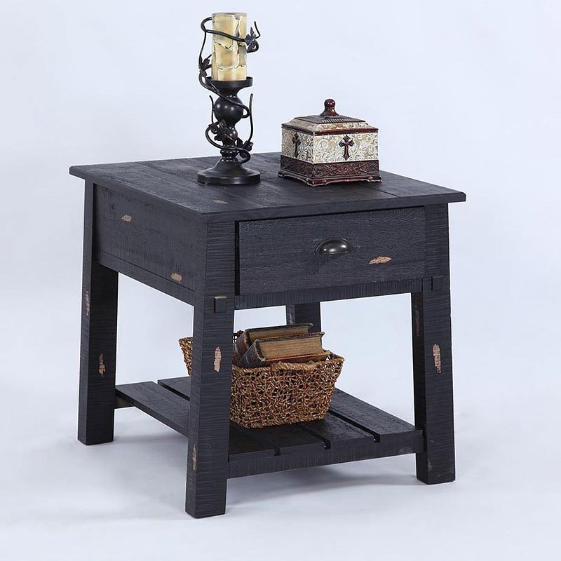 willow end table distressed black - Distressed End Tables