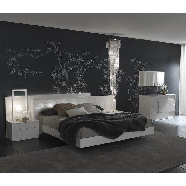 Nightfly Platform Bedroom Set (White)