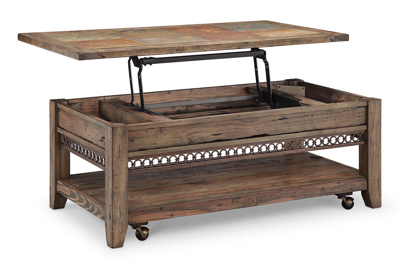 Pierson Lift Top Cocktail Table W Casters Magnussen Furniture Cart