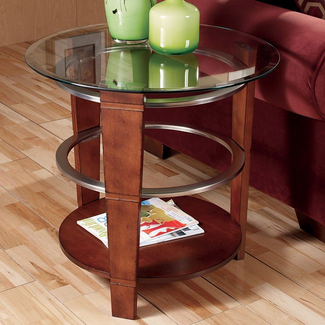 Pisa Round End Table