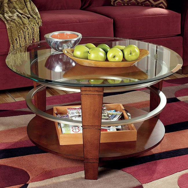 Pisa Round Cocktail Table