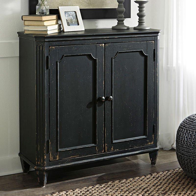 Mirimyn Antique Black Accent Cabinet - Mirimyn Antique Black Accent Cabinet Signature Design Furniture Cart