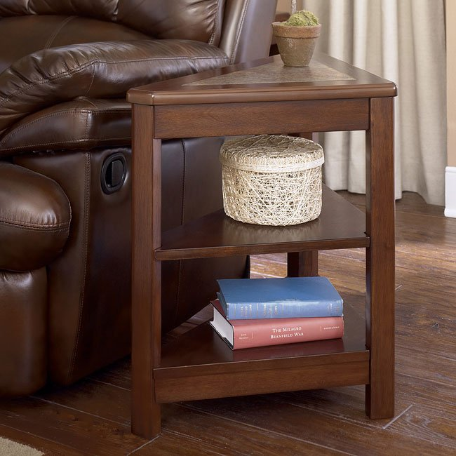 Maddox Triangular Chairside End Table