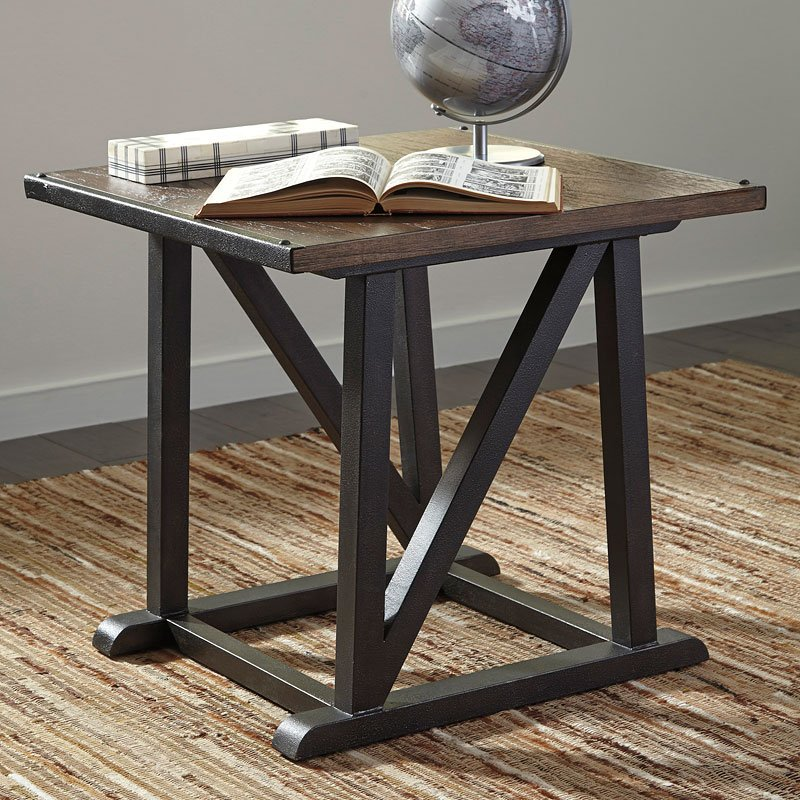 Zenfield Square End Table Signature Design Furniture Cart