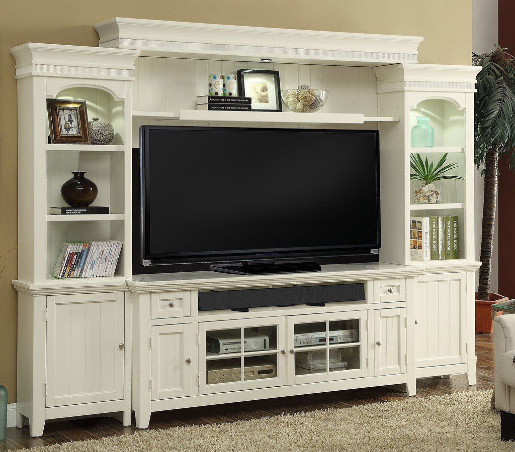 Tidewater Entertainment Wall w/ 72 Inch Console