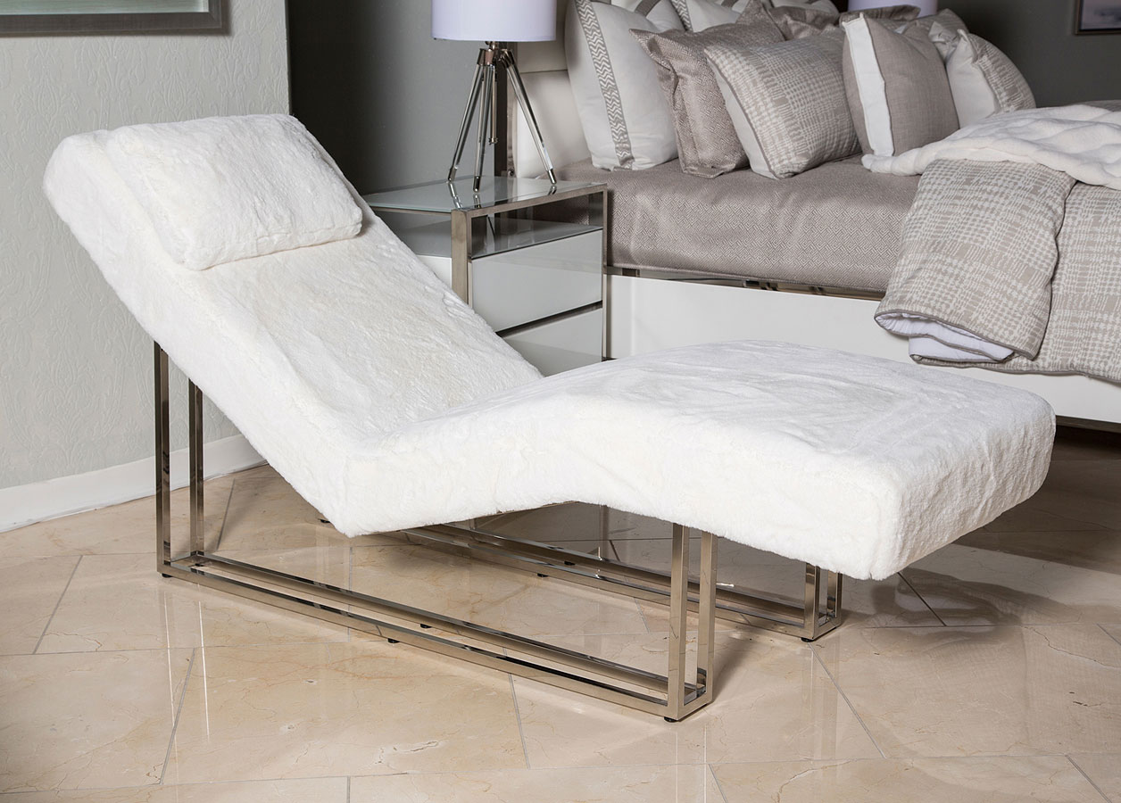 Trance Astro Faux Fur Chaise Aico Furniture Furniture Cart