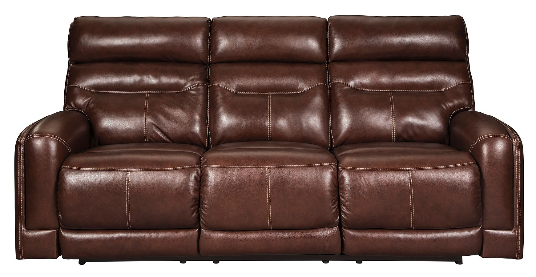8c31a3840c Sessom Walnut Power Reclining Sofa w/ Adjustable Headrests. Part of the  Sessom Collection by Signature Design by Ashley Furniture