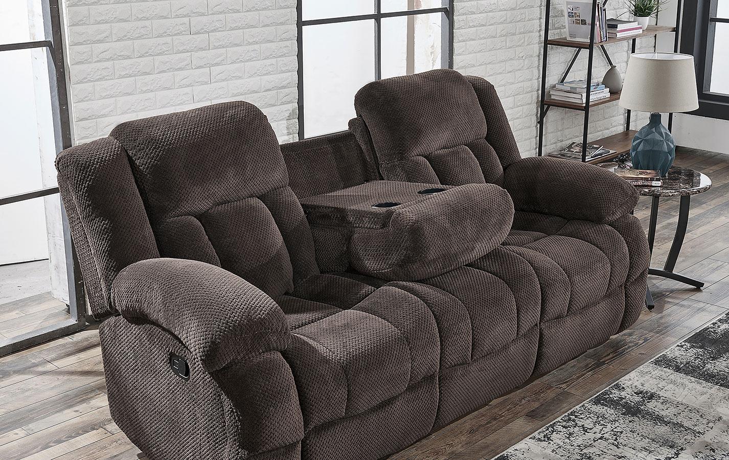 U1600 Reclining Sofa W Drop Down Table