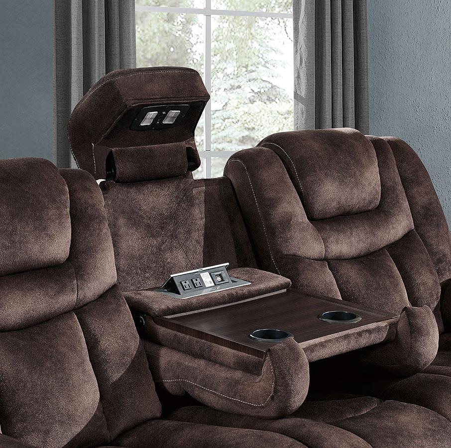 U1706 Reclining Sofa W Drop Down Table