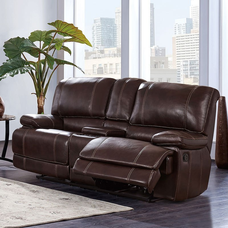 Swell U1953 Reclining Loveseat W Console Gamerscity Chair Design For Home Gamerscityorg