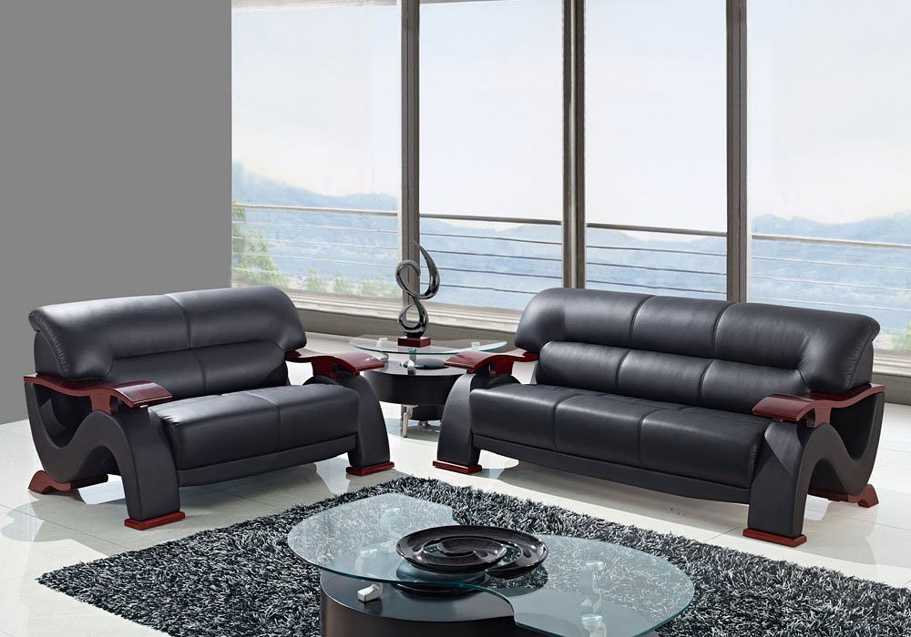 Really Feel Comfy With Black Living Room Furniture U2033 Bonded Leather Living Room Set (Black) Global Furniture | Furniture  Cart