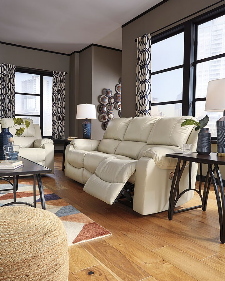 Rackingburg Cream Reclining Living Room Set Signature