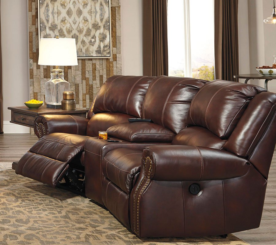 Charmant Collinsville Chestnut Reclining Home Theater Sectional