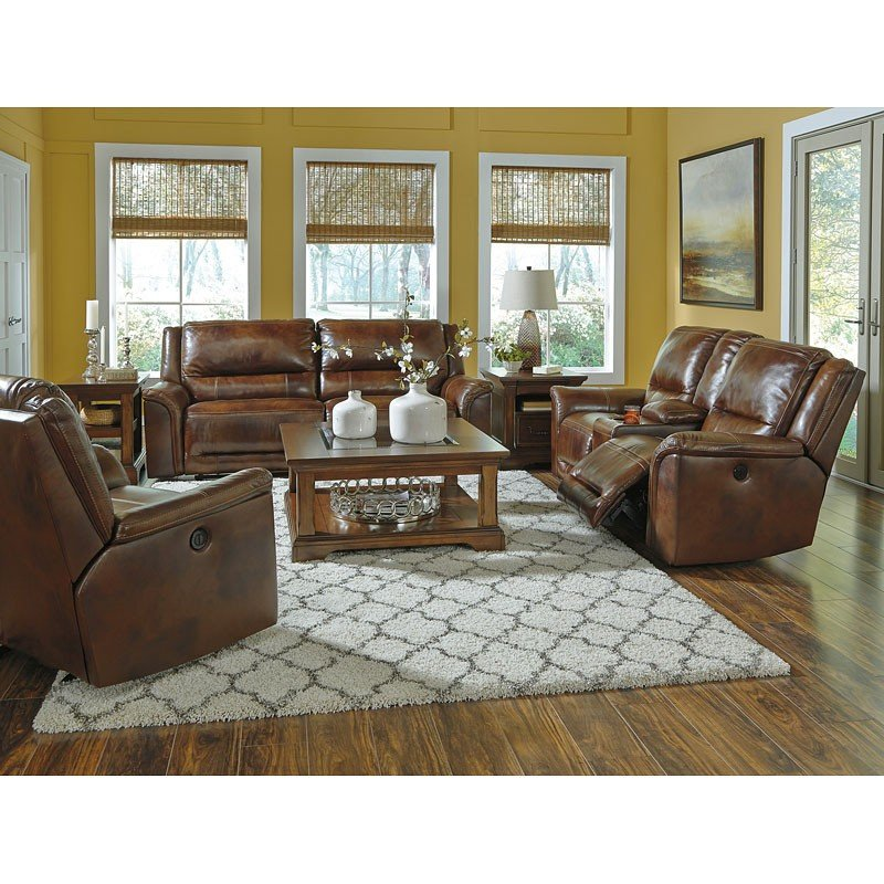 Us Living Room: Jayron Leather Power Reclining Living Room Set Signature