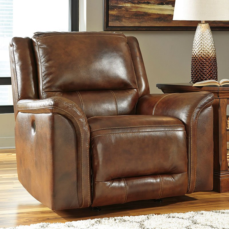 Jayron Leather Reclining Sectional Set Signature Design
