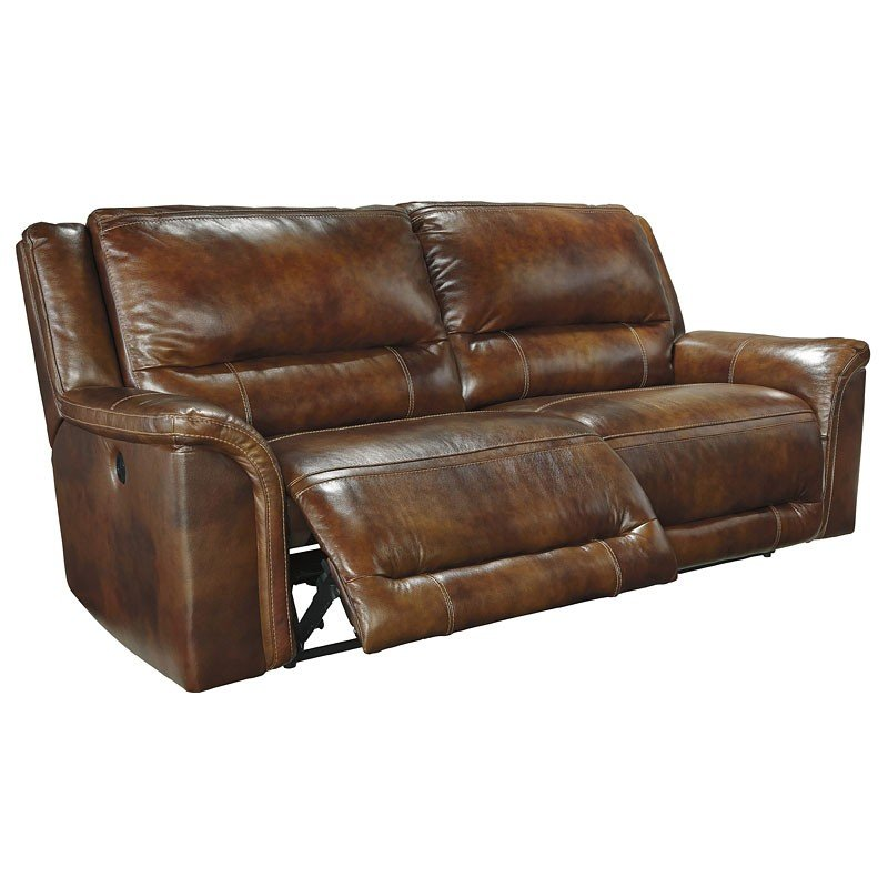 Leather Furniture Traveler Collection: Jayron Leather Reclining Sectional Set Signature Design, 1