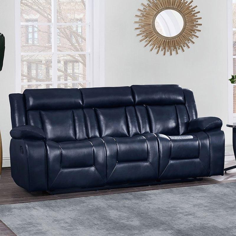 U8036 Reclining Sofa (Blue)