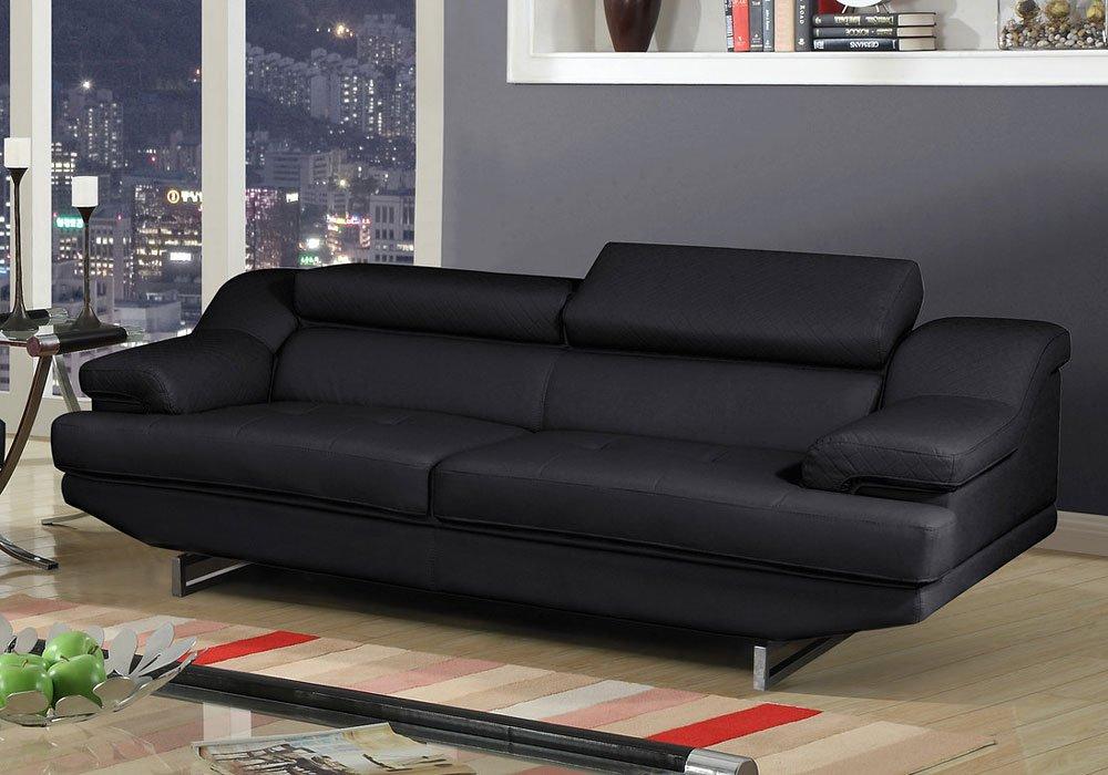 U8141 Sofa Black Global Furniture Furniture Cart