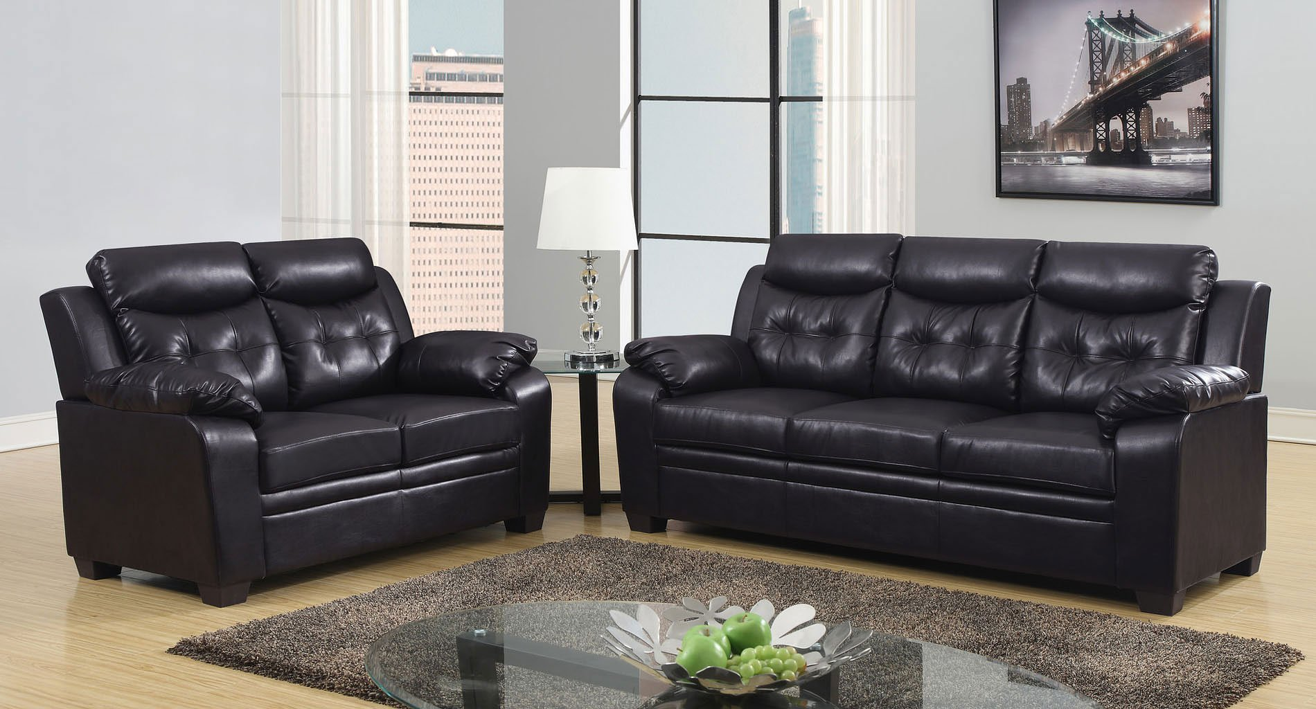 U880016 Living Room Set (Chocolate) Global Furniture ...