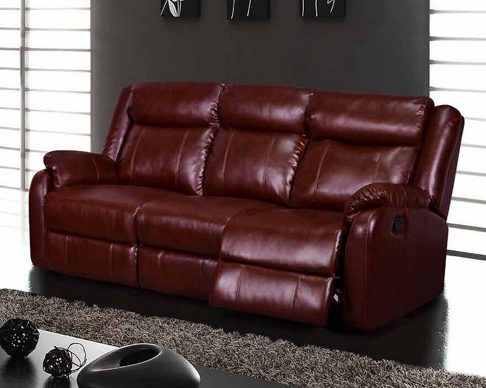 U9303 Reclining Sofa (Burgundy) Global Furniture | Furniture Cart
