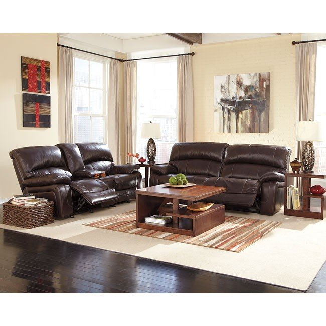 Damacio Dark Brown Reclining Living Room Set w/ Power