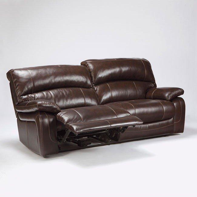 Damacio Dark Brown Reclining Sofa