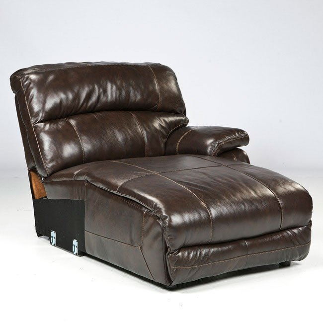 Power Reclining Sectional With Right Press Back Chaise By: Damacio Dark Brown Modular Sectional Set Signature Design