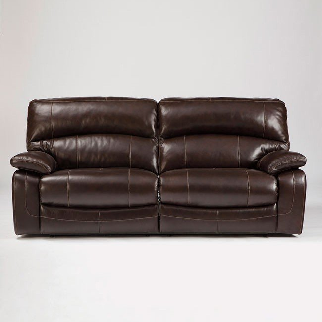 Damacio Dark Brown Reclining Sofa w/ Power