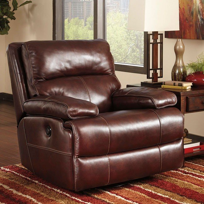 Lensar Burgundy Rocker Recliner