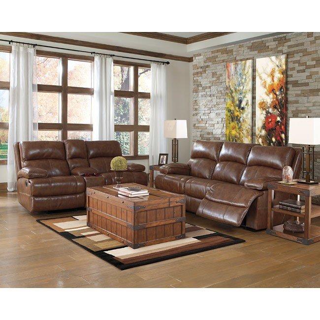 Lensar Nutmeg Reclining Living Room Set