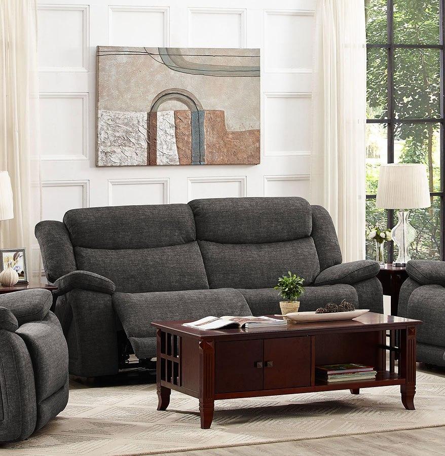 Leona Dual Power Reclining Sofa New Classic Furniture Furniture Cart