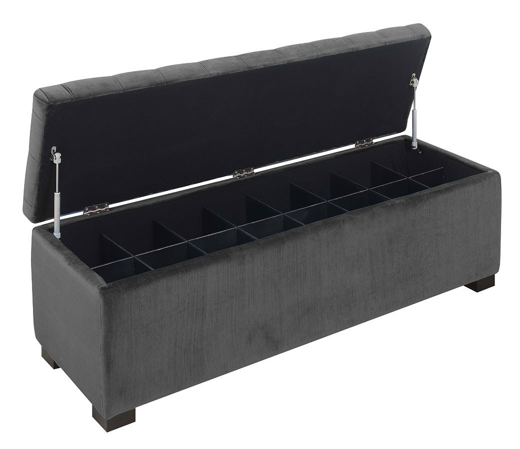 Brilliant Chandler Shoe Storage Bench Gun Metal Inzonedesignstudio Interior Chair Design Inzonedesignstudiocom