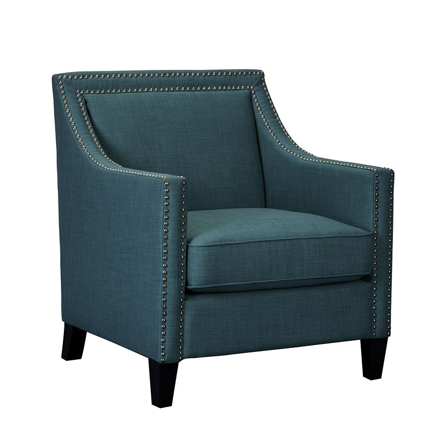 Erica Accent Chair W Ottoman Teal Elements Furniture