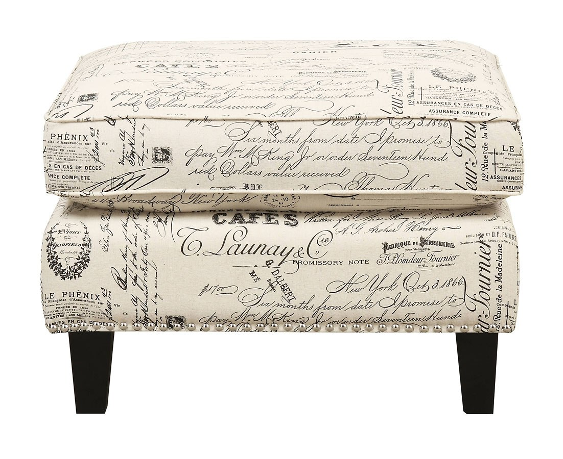 Erica Ottoman French Script Elements Furniture